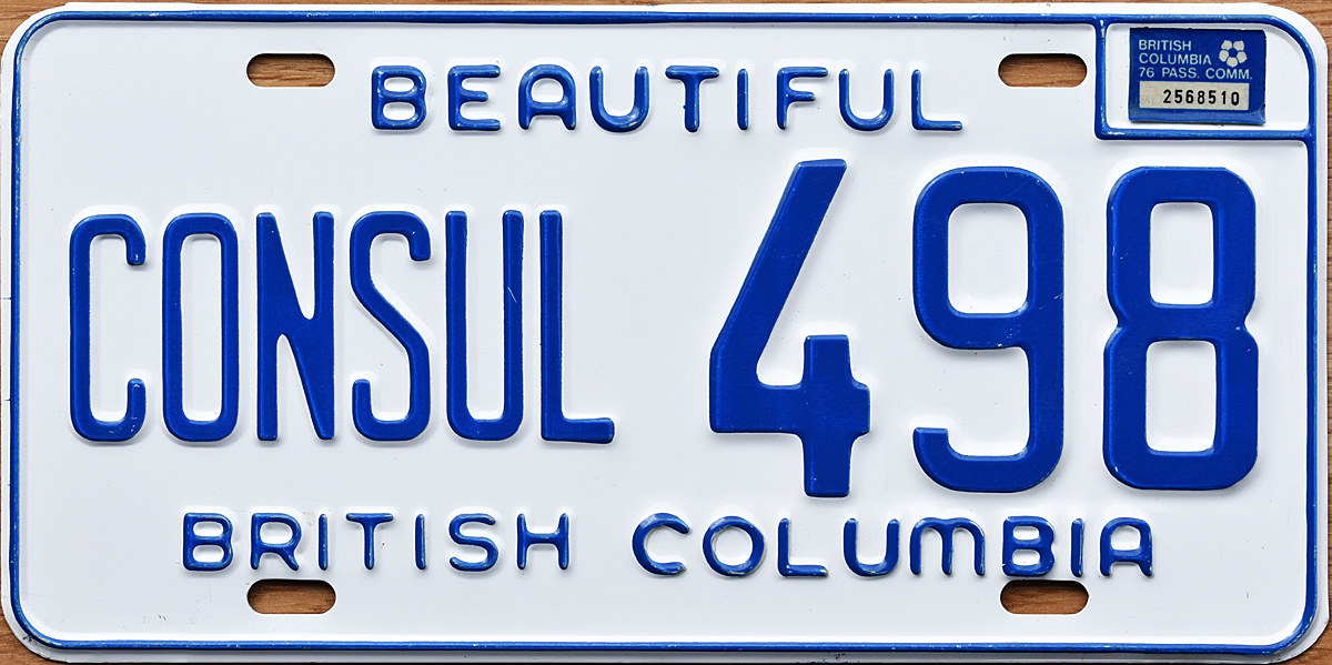 76 british columbia for Consul license