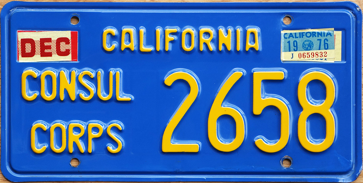 76 california for Consul license