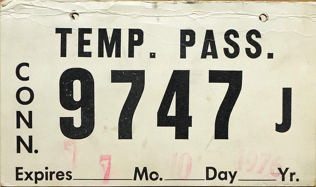 January 1976 expiration on Connecticut 57 type base plate  sc 1 st  Plate Shack & 76 Connecticut
