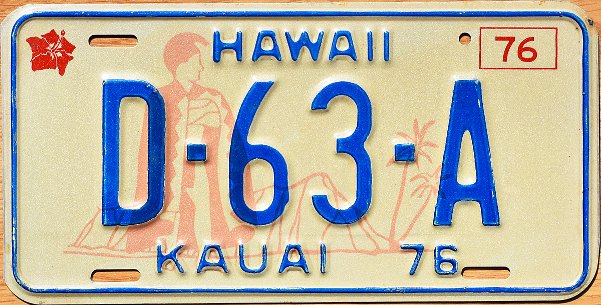 Car dealer license plate utilized in Honolulu County in 1976 and a car dealer license plate utilized in Kauai County in 1976  sc 1 st  The Plate Shack & 76 Hawaii