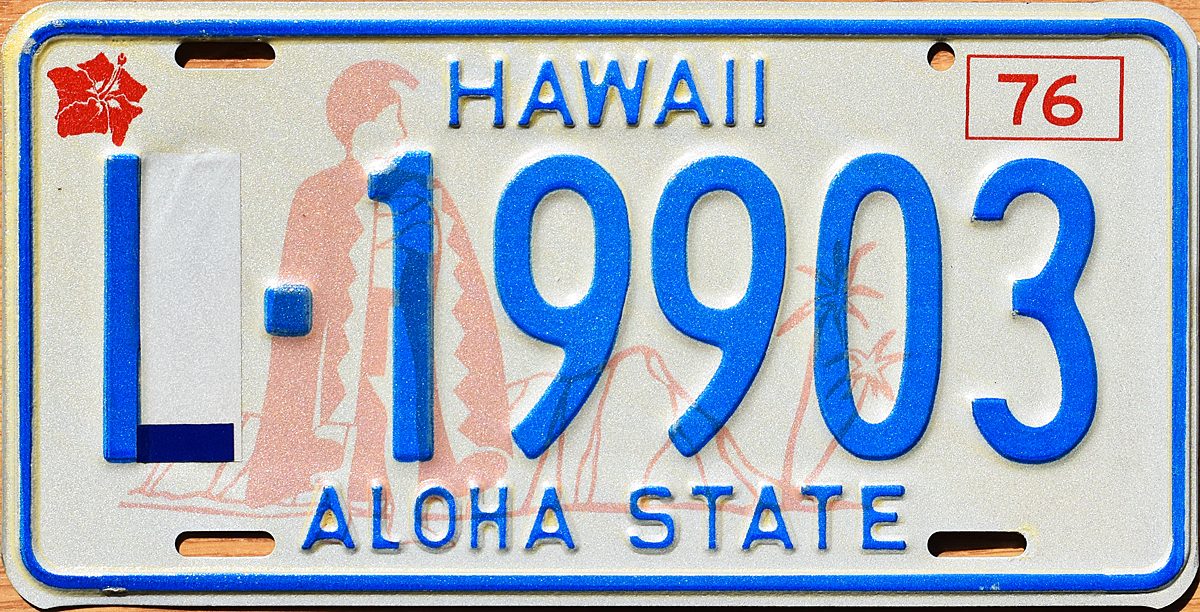 This plate was designated to Kauai County When Hawaii ordered plates for Kauai from two different sources several Kauai plates came with the same number  sc 1 st  The Plate Shack & 76 Hawaii