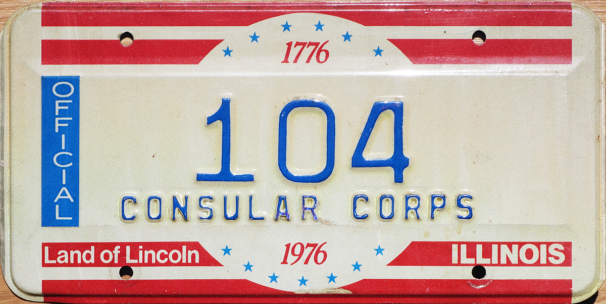 76 illinois license plate page for Consul license
