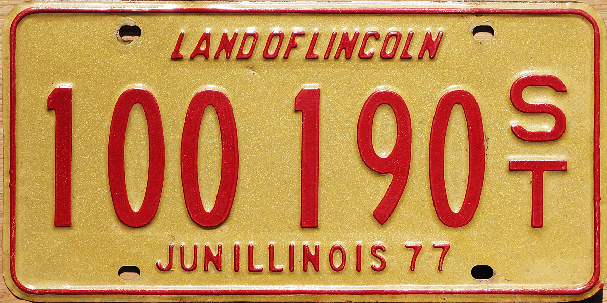 1976 Illinois recreational vehicle plates  sc 1 st  The Plate Shack & 76 Illinois License Plate Page