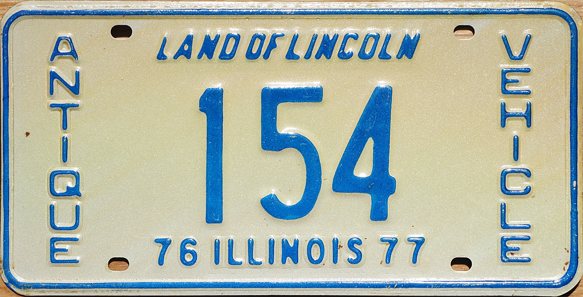 1976/77 Antique Vehicle plate  sc 1 st  The Plate Shack & 76 Illinois License Plate Page
