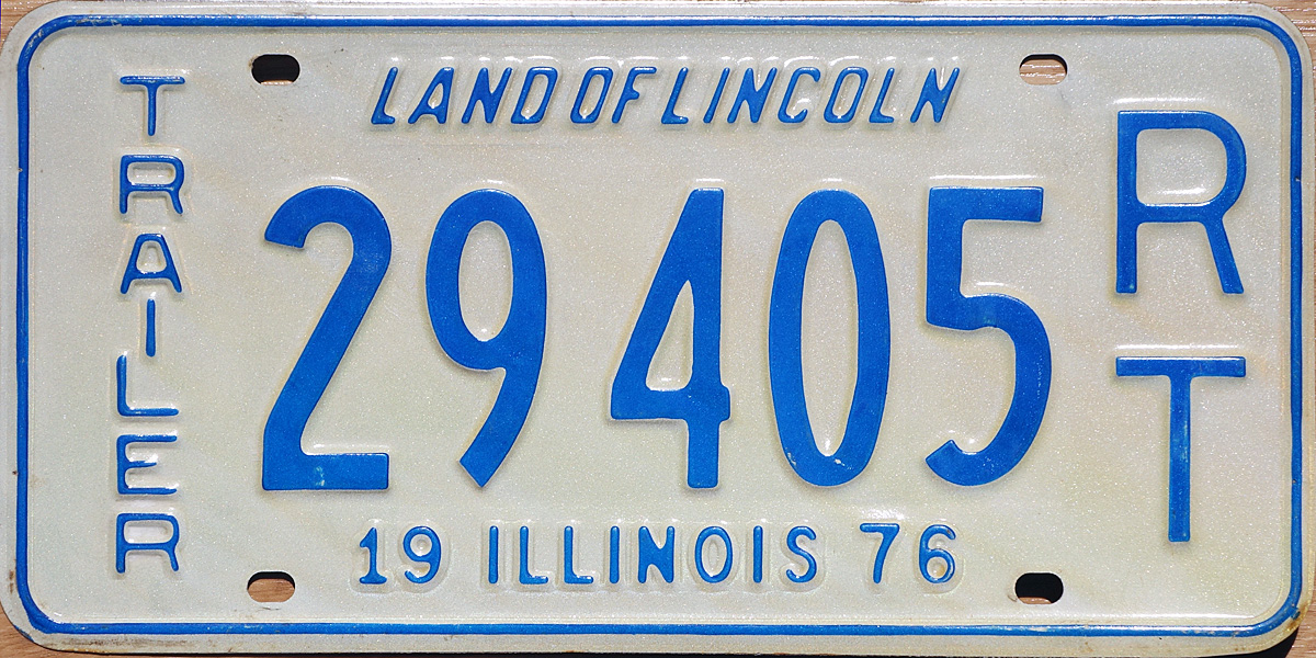76 Illinois License Plate Page