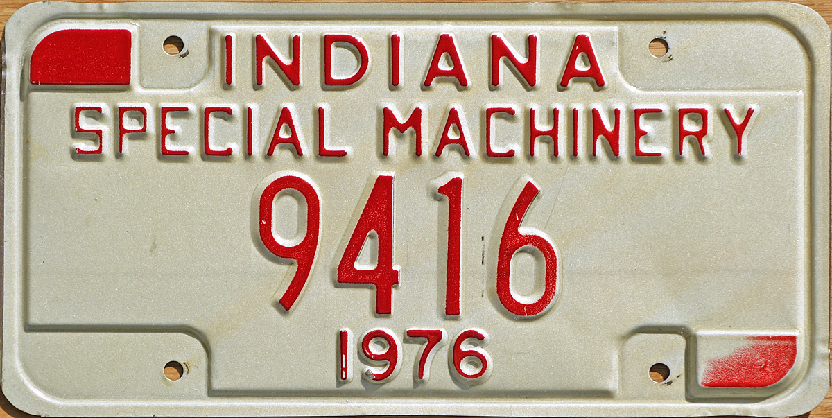 1976 Special Machinery