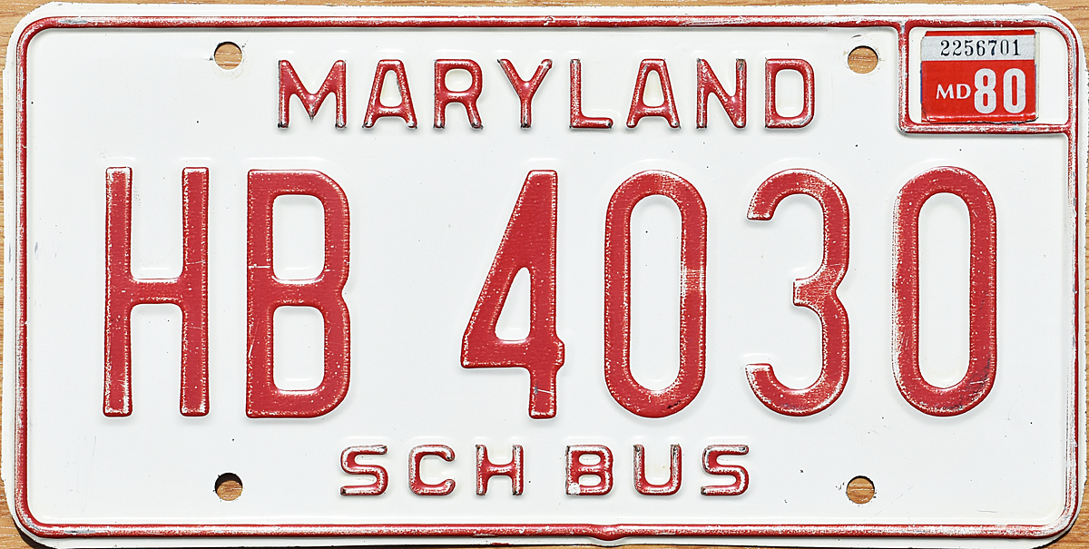 MD 1980 School Bus