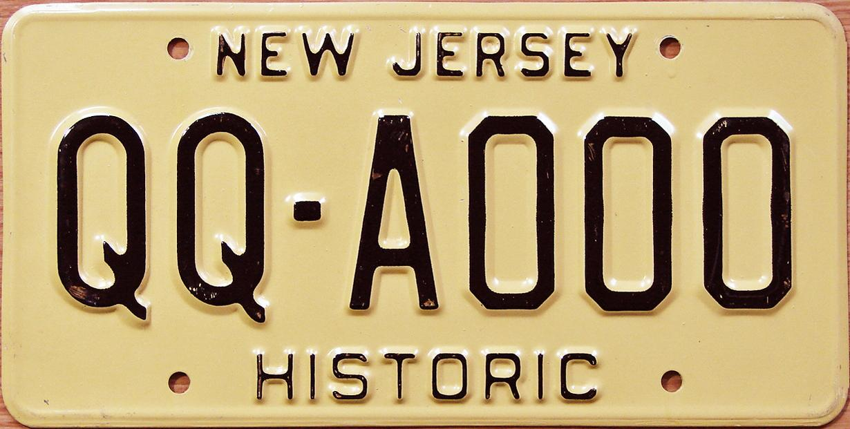 Contemporary qq license plate sketch classic cars ideas for Nj fishing license 2017