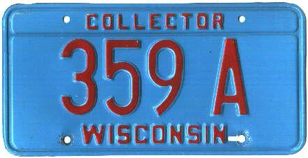 Collector plates wi autos post for How much is a wisconsin fishing license