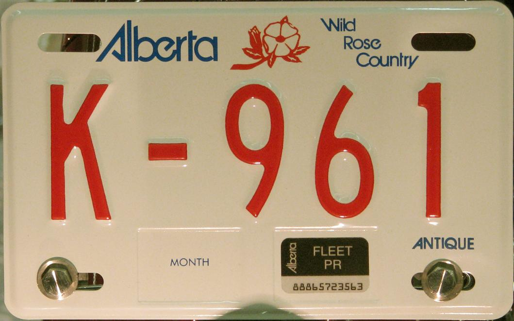 Click on plate for larger image & Alberta Y2K