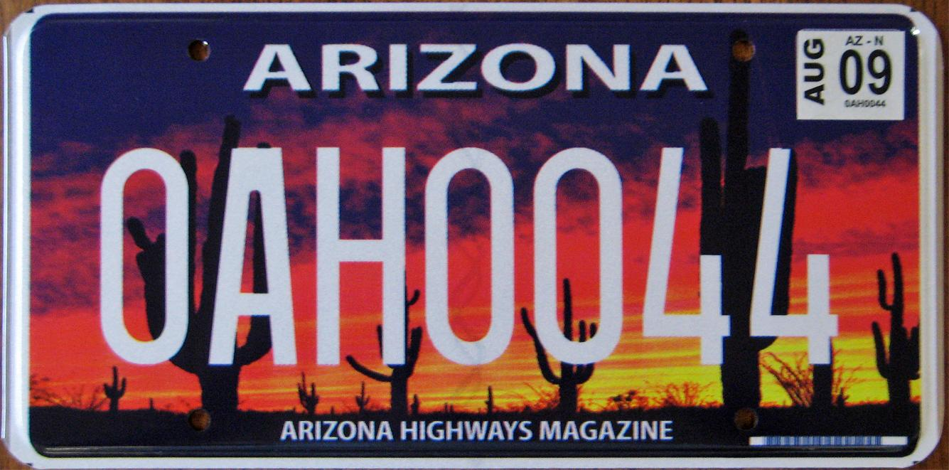 Vehicle Registration Renewal Ca >> Arizona License plates / Vehicle Registration Renewal Question