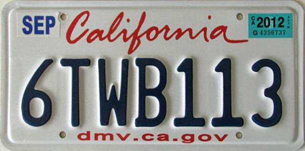 October 2012 expiration on california protect our coast ocean vanity plate image sent by louk markham of merced california