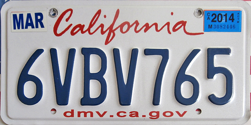 how are license plate numbers assigned in california