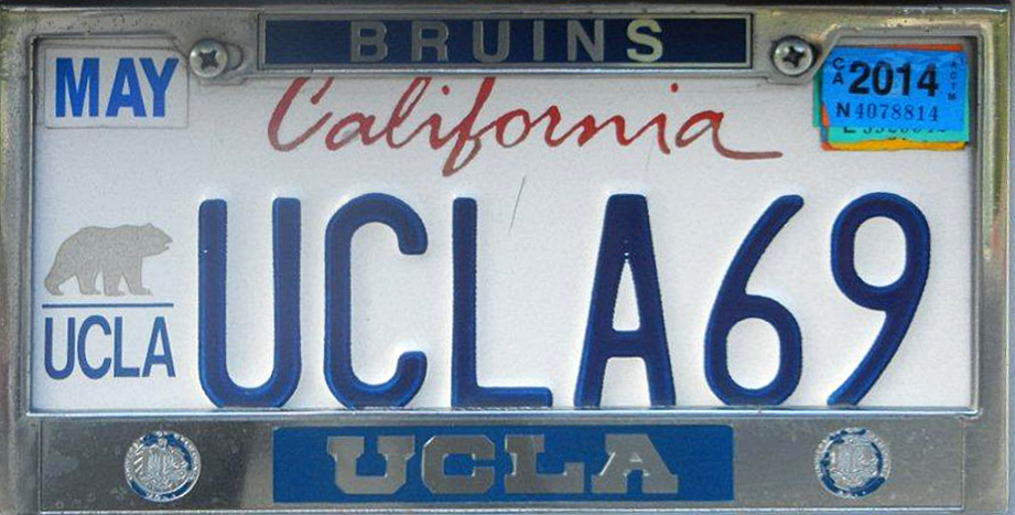 Ucla License Plate - Best Plate 2018