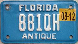 November 2012 expiration on Florida motorcycle plate. Image sent by Joe Sallmen of Fairmont West Virginia  sc 1 st  Plate Shack & Florida 4 Y2K