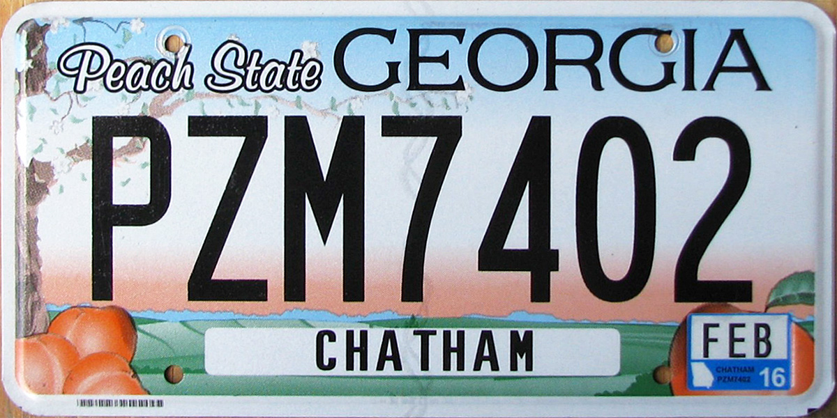 How To Get License Plate For New Car In Georgia