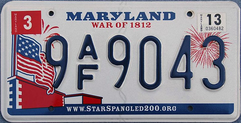 Download free software License Plate Maryland - backuppitch