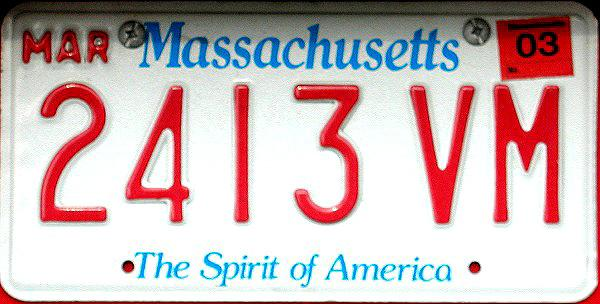 Ma License Plate Registration Sticker