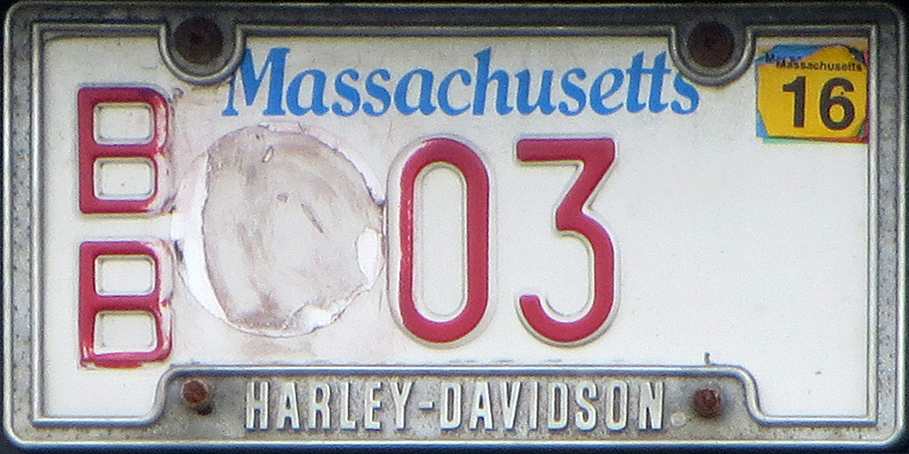 2015 expiration on Massachusetts antique motorcycle plates with May 31 2017 expiring inspection sticker 2015 expiration on Massachusetts antique motorcycle ... & Massachusetts 4 Y2K