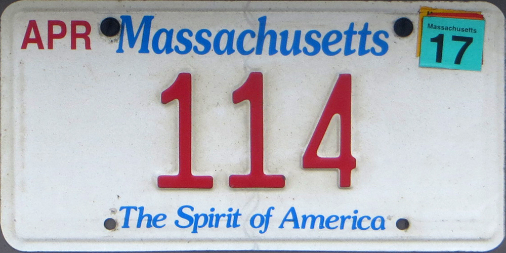 how to get a ma license plate