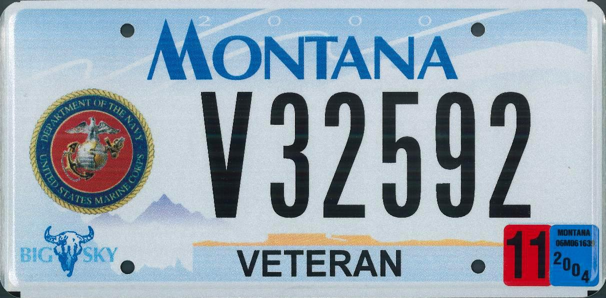 Montana License Plate On Car
