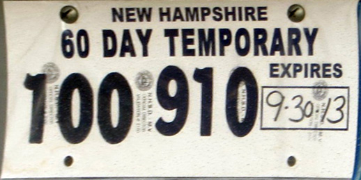 New Hampshire Sam Farley Plates