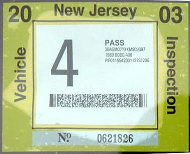 Plates - State of New Jersey - Motor Vehicle Commission