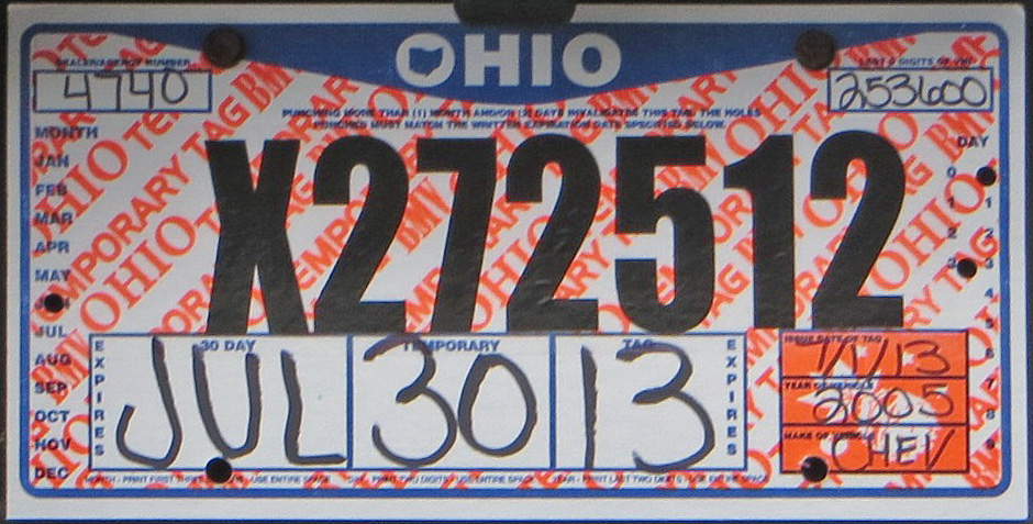 ohio temporary tags Temp Tags expired TODAY got pulled over · TheLaw.com