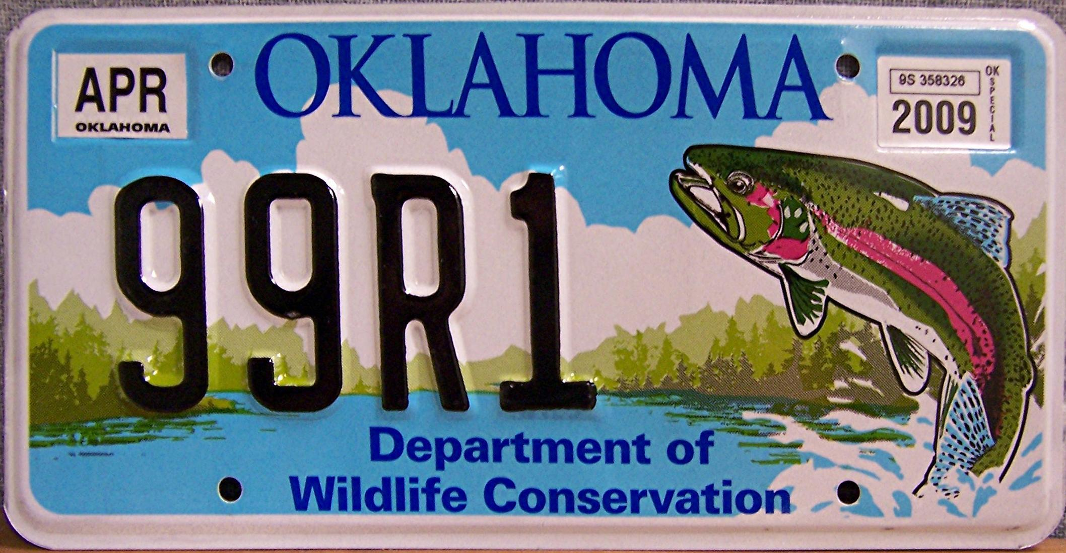 1000 images about fishy license plates on pinterest for Fishing license in oklahoma