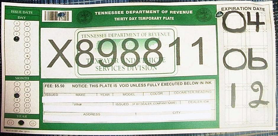 tennessee temporary tag This Is Why Tennessee Temporary Tag