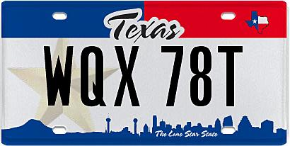 Texas Department Of Motor Vehicles License Plates
