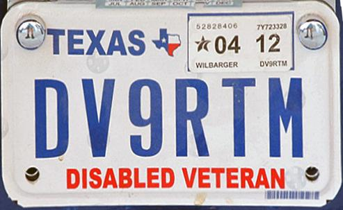 texas disabled veteran plates application