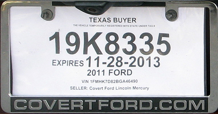 Texas Temporary License Plate >> Texas Temporary License Plate | Car Interior Design
