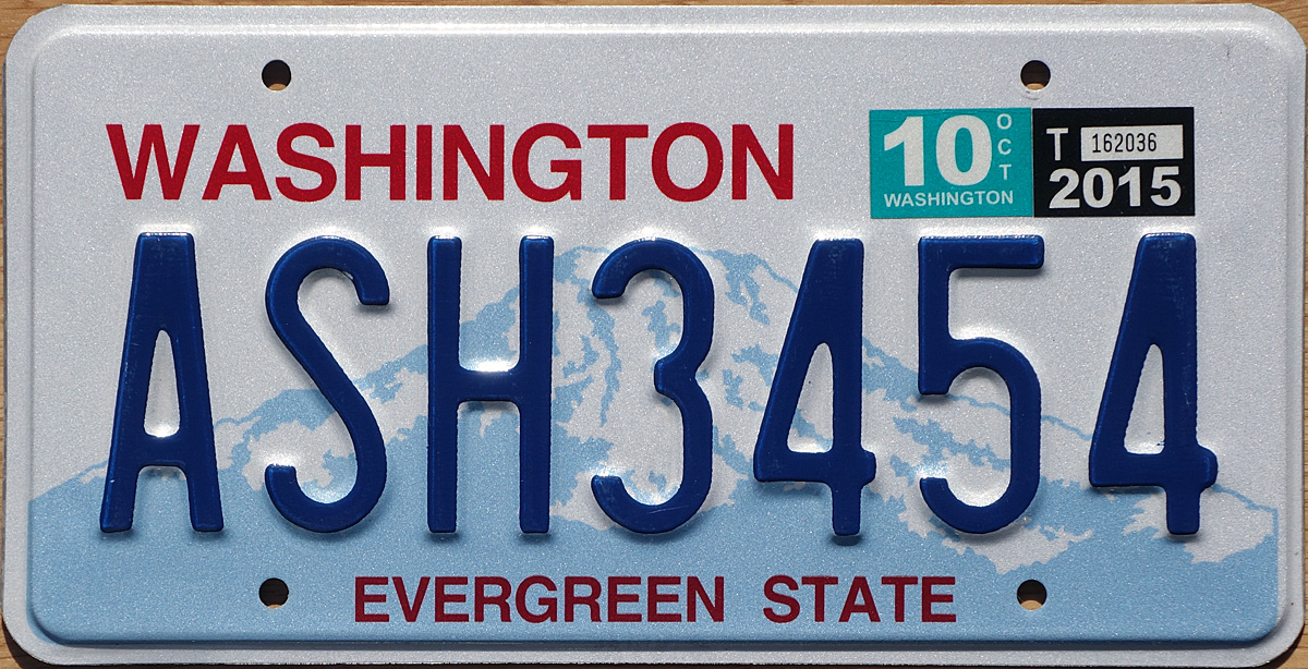Washington state vehicle license plates vehicle ideas for Washington state fishing license cost