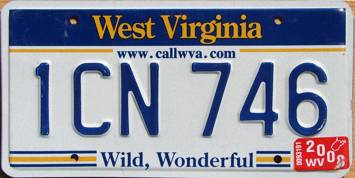 sc 1 st  The Plate Shack & West Virginia 2 Y2K Plates